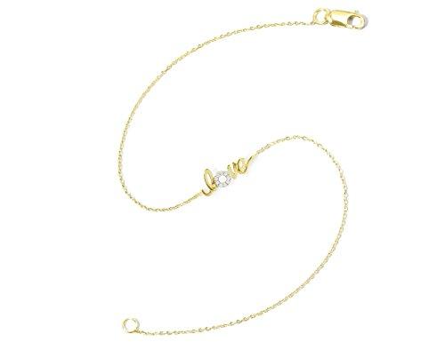 NICOLS 29210225x30 - Pulsera Oro Amarillo (18kt) con Palabra Love y Diamantes