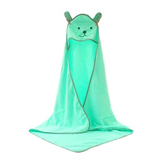 TOYANDONA Baby Kapuzen handtuch, 35,5 X 35,5 Zoll Tiergesicht Kapuzen handtuch aus Weicher Baumwolle Klein kind Badetuch für Jungen Mädchen (Grün)