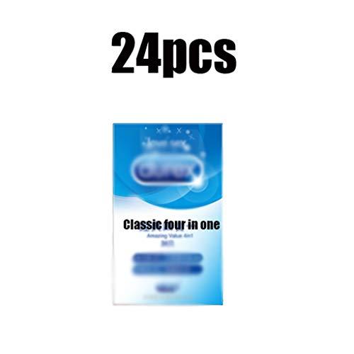 16/24 / 36pcs Ultradunne Condooms Sensation Value condooms for mannen gemakkelijk te gebruiken condooms Safer Anticonceptie (Color : 24pcs)
