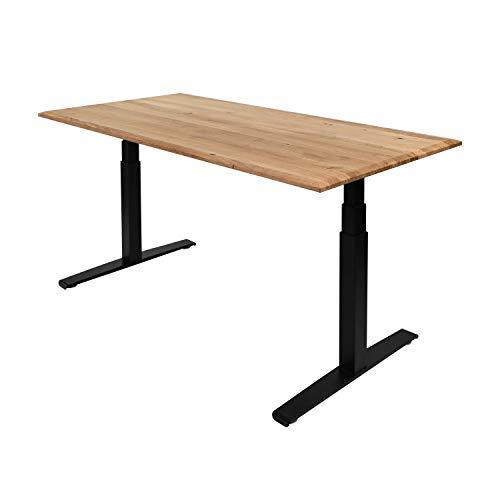 boho office® Massivholz, Tischplatte Schreibtischplatte 160 x 80 x 2.5 cm in Eiche Massiv mit durchgehenden Lamellen - 4