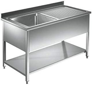 Spültisch Edelstahl 1 Becken links 1000 x 600 x 850 mm Gastro Spüle