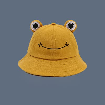 Sombrero de Cubo de Moda para Mujer Nuevo Sombrero de Verano Padre Femenino-Yellow-S