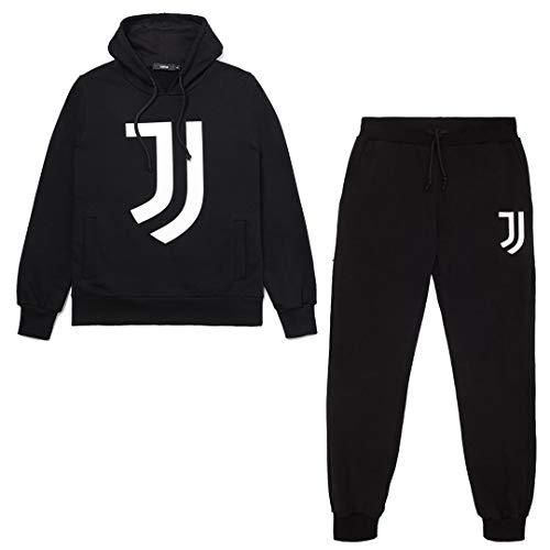 JUVE Juventus Tuta Uomo Black Hoodie - Collezione 2020/2021-100% Originale - 100% Prodotto Ufficiale - Colore Nero - Scegli la Taglia (Taglia M)