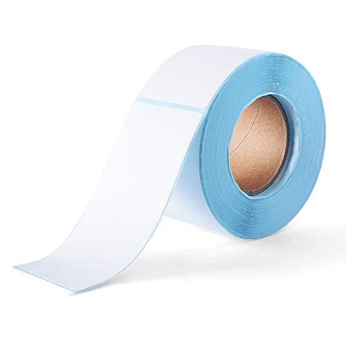 500 Stück Etiketten Selbstklebend Haushaltsetiketten Klebeetiketten Tiefkühletiketten Aufkleber Weiß für Büro Küche Marmelade, 5 x 10 cm Rechteckig