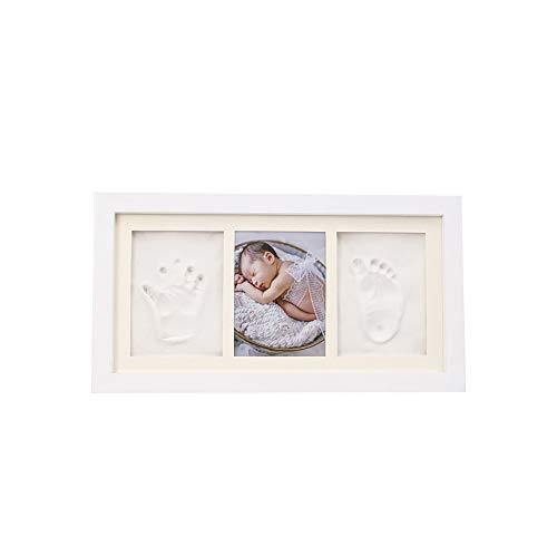 Kit cadre photo empreinte de main et empreinte béb Immortaliser vos souvenirs bébé nouveau-né mains et des pieds Imprimer boue Cadre photo bébé souvenir mains et des pieds Imprimer boue 100 Jours cade