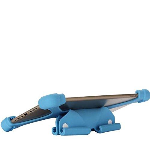 Funda de silicona / soporte universal,  extensible y ajustable a prueba de golpes para Tablets,  PCs,  iPads Samsung Chuwi de 8, 9 /9/10.1/11/12 pulgadas Tablets azul