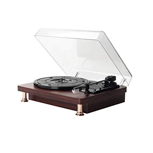 Z-Color Drehscheibe-Vinylplattenspieler, 3 Speed Riementrieb for Superior-Ton, Qualitäts-Keramik-Kartusche, Eingebaute Stereo-Lautsprecher, Aux In, RCA Out und Staubschutz