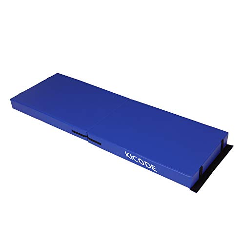 Kicode 4inch Thick Tri-fold Exercise Mat, Gymnastics Mat for Home Gym Extra Thick Folding Workout Mat, Tumbling Mats For Home Gymnastics Use, 6ft x 3ft