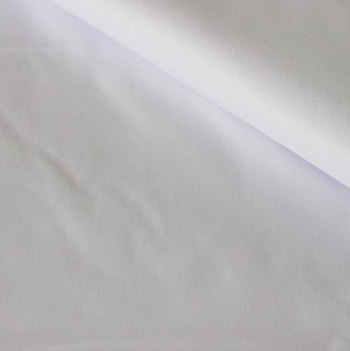 Pingianer Tela de algodón 100 % monocolor para niños, por metros, artesanía, tela de costura, color blanco, 100 x 160 cm (9,99/m))