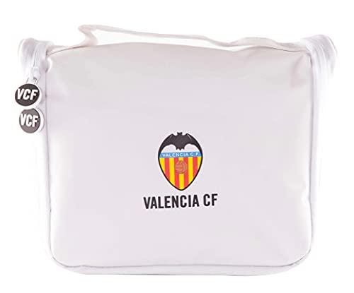 Valencia Club de Fútbol Neceser de Viaje - Producto Oficial del Equipo, con Percha para Colgar y Varias Alturas para Guardar Artículos de Aseo