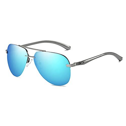 terg Gafas de Sol de Aviador sin Marco Polarizadas de Aluminio de Aluminio Magnesio Coloridos Hombres y Mujeres Street Shooting Classic Retro Anti-Glare UV400 Moda Tendencia Variedad Colores