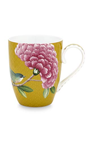 Pip Studio Tasse klein Blushing Birds | Yellow - 350 ml