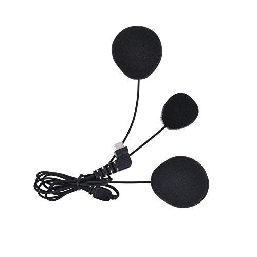 QSPORTPEAK Micrófono Auricular Cable Suave Auricular Accesorio para BTS2 y BTS3 Serie Casco de la Motocicleta Bluetooth Interphone Moto Intercomunicador(Interfaz de Tipo C)