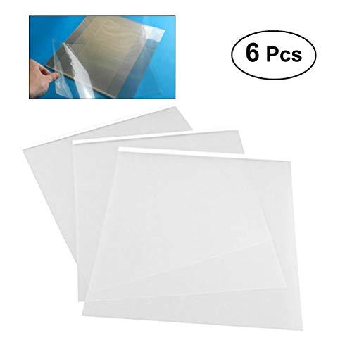 Inyección de tinta película 6pcs 29.7* 21cm A4transparente de inyección de tinta película adhesiva impermeable transparencia seda Protector de película