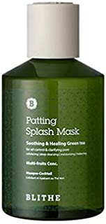 Blithe Patting Splash Mask Soothing & Green Tea for Oil Controlling & Pore Clarifying, 150 Milliliter