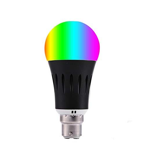 ZWD Alexa WiFi Smart Light Lampadine a LED Bayonet B22 RGBCW 12W Dimmerabili Compatibile con Alexa Google Assistant & IFTTT Nessun hub richiesto,B22RGB+CW