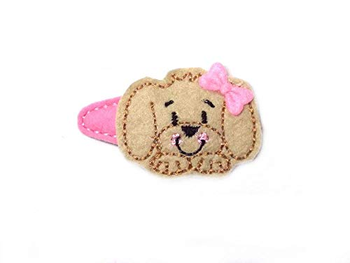 Hund Haarspange für Kleinkinder - freie Farbwahl Haarklammer Babyspange Mädchen Haaraschmuck