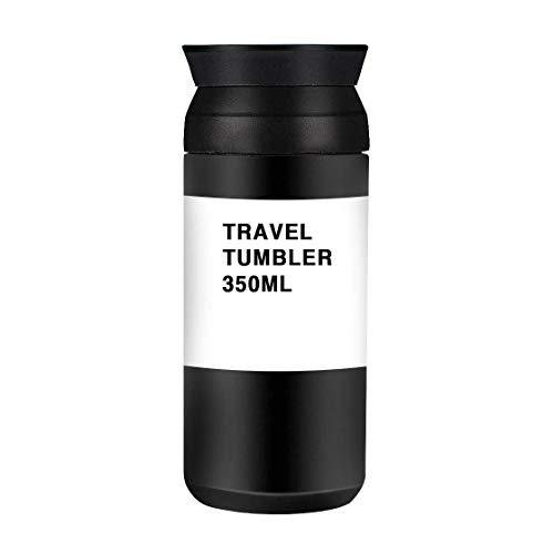 XLKJ Premium Edelstahl Thermobecher Kaffee to go Travel Mug, 350ml Isolierbecher Reisebecher Kaffee und Tee