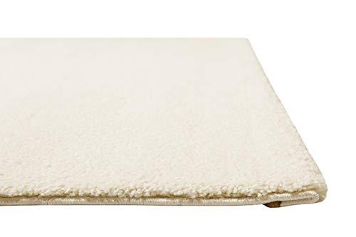 Homie Living Kurzflor Teppich für Wohnzimmer, Flur, Schlafzimmer & Kinderzimmer in schönen modernen Farben LIDO (130 x 190 cm, Creme Weiß)