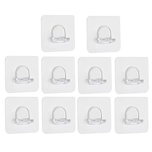 ALUNVA 10 unids Soporte de Soporte Adhesivo Adhesivo Clavijas de plástico Armario Estante Soporte de Pinzas colgadoras de Pared para Cocina Accesorios de baño FQYXLX (Color : 10pcs)