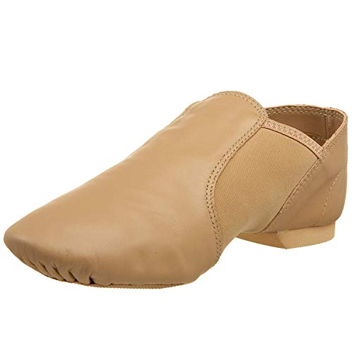 Capezio Women's E Series Jazz Slip-On,Caramel,5 M US