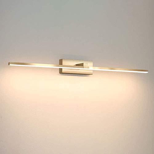 Luz LED para espejo frontal, de metal dorado, para maquillaje, 10 W, iluminación para cuarto de baño, lámpara de pared, armario de baño, luz blanca