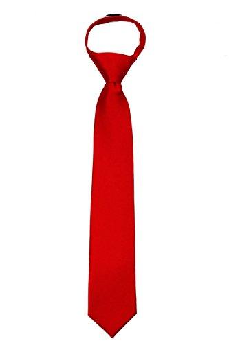 XL-ZIP-ADF-24 - Mens Extra Long Solid Zipper Necktie