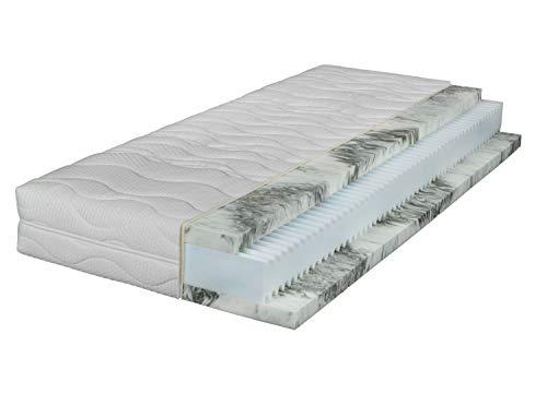 Gel-Hybridmatratze - Komfortschaumkern - 100 x 200 cm