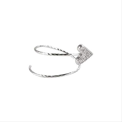 925 Sterling Silber Ohrringe,Ohrstecker Silber Ohrringe Damen Niedlichen Zirkon Herzförmigen Ohrhaken Lieben Modeschmuck Einfaches Kreatives Geschenk Urlaub Persönlichkeit Temperament Ohrringe