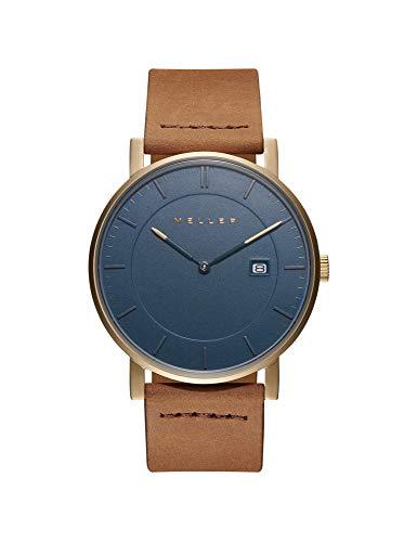 Meller Unisex Erwachsene Analog Quarz Uhr mit Leder Armband 1O-1CAMEL