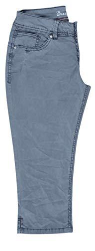 Buena Vista Damen Malibu-Capri Jeans Stretch Twil Bluish Grey M