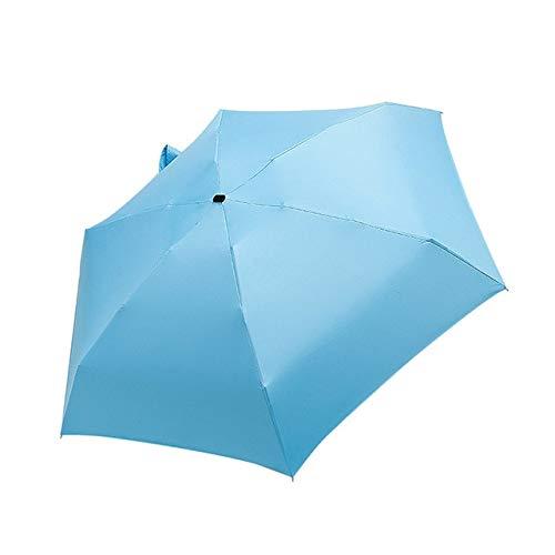 Sombrilla plana y ligera, plegable, mini paraguas, portátil, para viajes, accesorios para el hogar, a prueba de lluvia, a prueba de rayos UV, azul, a1