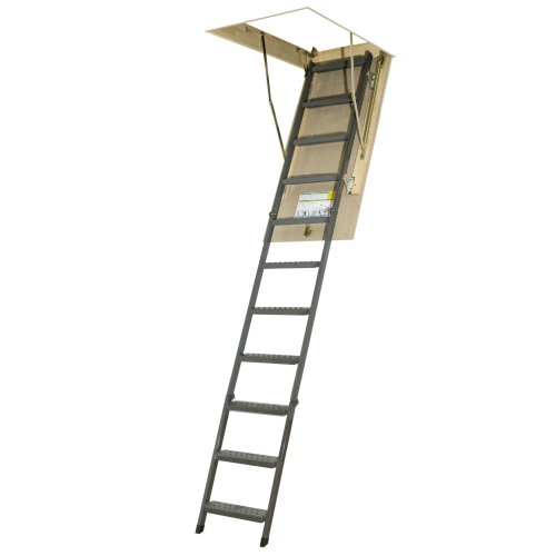 FAKRO OWM 25inx54in Basic Metal Non-Insulated Attic Ladder 300lbs 10ft 1in