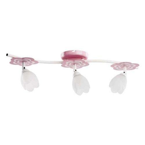 ALFA MARIA Pink/Rosa 3 Deckenleuchte Deckenlampe Kronleuchter Kinderzimmerleuchte Kinderzimmerlampe