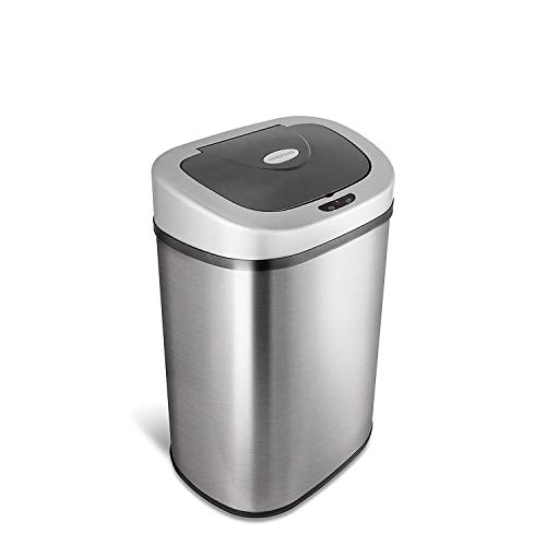 80L manos libres extra grande capacidad de la familia de acero inoxidable polvo de acero de residuos de cocina sensor de movimiento caja automática de basura - AutoBin