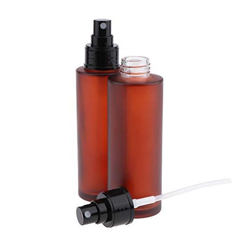 B Blesiya 2x 30ml Bouteilles de Parfum Vide Bouteille Atomiseur Pompe Pulvérisateur à Brouillard D'eau Rechargeable - 100 ml