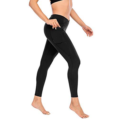 Leggins Mujer Deporte Push Up Color sólido Cintura Alta Bolsillos Pantalon Deportivo Ropa Deporte Mujer Mallas Push Up Mujer Yoga Fitness