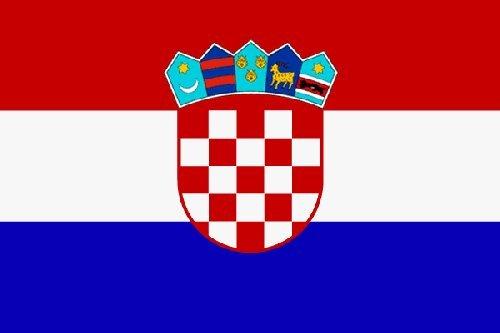 Kroatien Fahne 90 x 150 cm - Flagge - EM 2012 - Kroatische Fahne