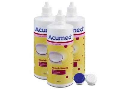 Acumed Kombilösung 3er Set 3x360ml, 1 Behälter