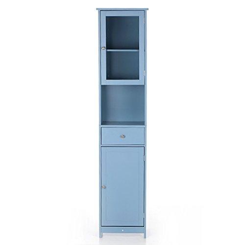 IKAYAA Scaffale per Libri Scaffale per Mobili Armadio per Bagno Dimensioni: 40 * 28 * 180 cm Colore Blu