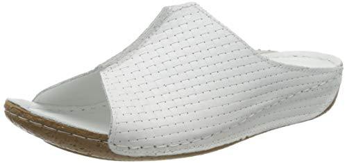 Andrea Conti Damen 0773413 Pantoletten, Weiß (Weiß 001), 42 EU