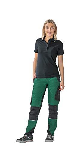 Planam Norit Damen Bundhose, Farbe: Grün/Schwarz, Größe: 36