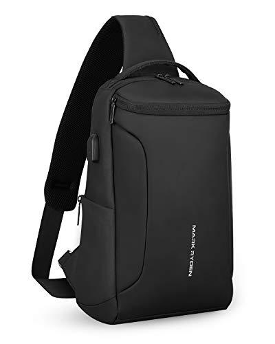 MARK RYDEN Schultertasche wasserdicht Large Shoulder Chest Crossbody-Tasche Leichter, lässiger Tagesrucksack für 10,5-Zoll-Ipad