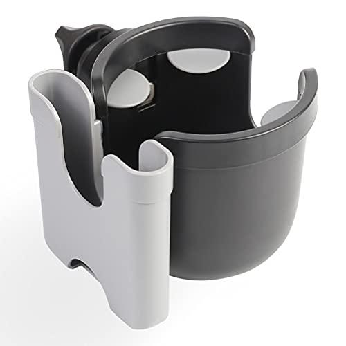 Fencelly Portavasos para cochecito, 2 en 1 con soporte para teléfono universal para bicicleta y silla de ruedas