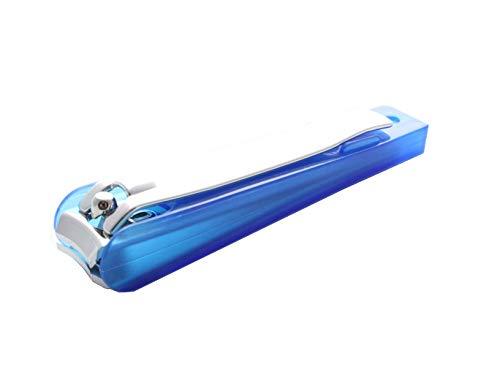 Nagelknipser XXL 8,5cm Fuß mit Auffangbehälter Blau Elina Med