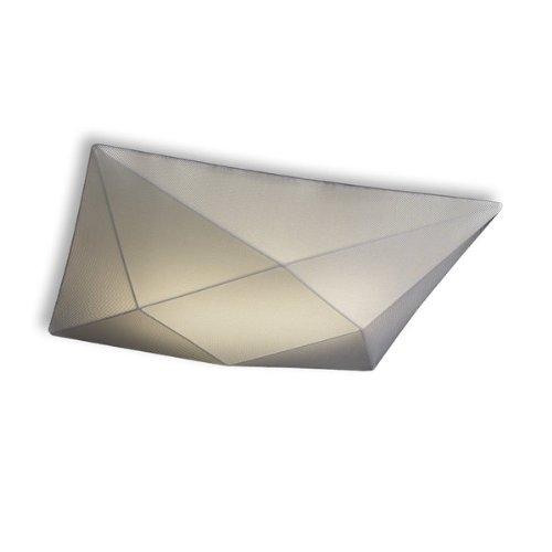 Olé by Fm Iluminación - Lámpara de techo plafón Polaris 58x58 con estructura metálica y tela elástica, color Titanio
