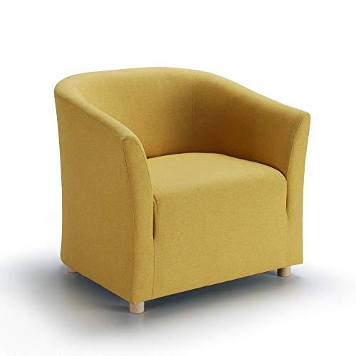 Marchio Amazon -Movian, poltrona modello Laura, colore giallo
