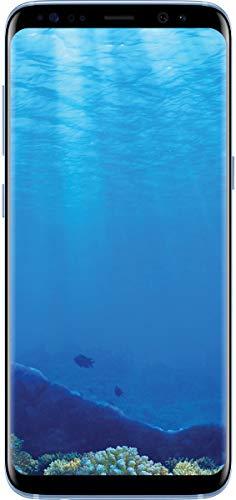 Samsung Galaxy S8, 64GB, Coral Blue - Fully Unlocked (Renewed)