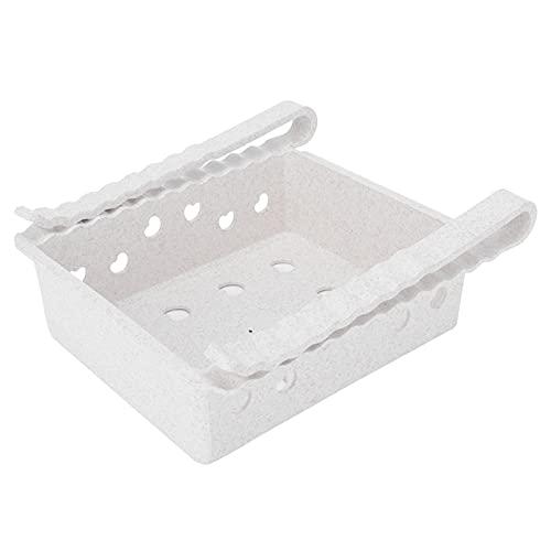 Contenedores organizadores de refrigerador, caja de almacenamiento de refrigerador resistente a bajas temperaturas, fuerte y duradera, para encimeras, gabinetes para(white)