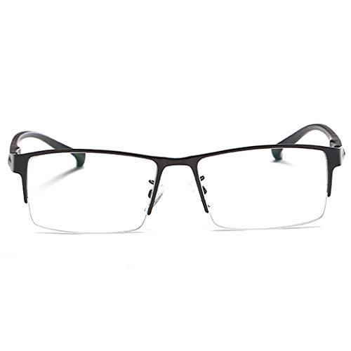 YEUNG Lesebrille, Männer Metallrahmen Rechteck Stil Legierung Werkstoff Leichtbau Federscharniere No Line Brillen for Computer-TV-Tablet (Color : 200)